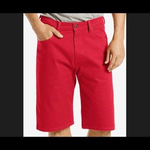 NWT NEW Men's Levi's 569 RED Loose Fit Jean Shorts